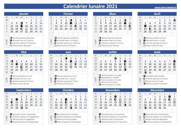 Pleine Lune Calendrier 2022 Phase de la lune 🌙   Calendrier des lunes 2020 et 2021